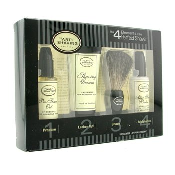 The Art Of Shaving Starter Kit - Unscented: Pre Shave Oil + Shaving Creme + Brush + Bálsamo pós barba