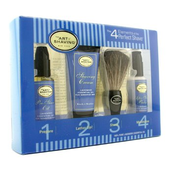 The Art Of Shaving Starter Kit - Lavender: Pre Shave Oil + Shaving Creme + Brush + Bálsamo pós barba