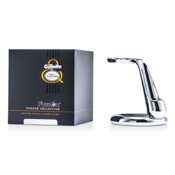 The Art Of Shaving Suporte para Píncel de Barbear & Barbeador Fusion Chrome Collection