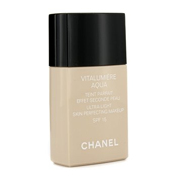 Chanel Base liquida Vitalumiere Aqua Ultra Light Skin Perfecting Make Up SFP 15 - # 40 Beige