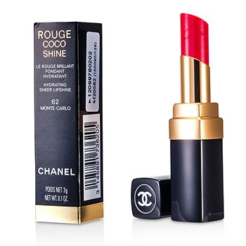 Chanel Batom Batom Rouge Coco Shine Hydrating Sheer - # 62 Monte Carlo