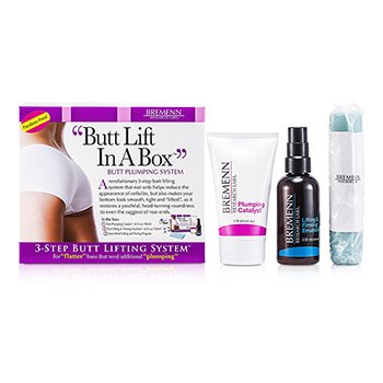 Bremenn Research Labs Butt Lift In A Box: 1x Butt Plumping Catalyst Cream 118ml + Butt Lifting & Firming Emulsion 118ml + Exercise Band 1pc