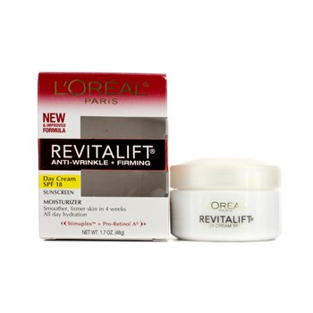 LOreal Creme RevitaLift Anti-Wrinkle + Creme Firming Day Cream SPF 18