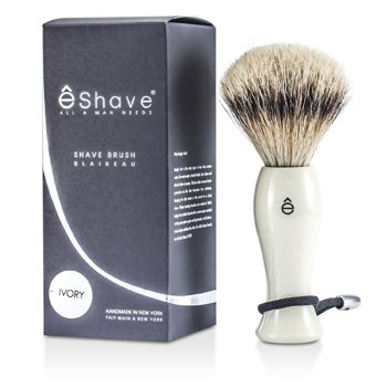 EShave Pincel de barbear  Silvertip - White