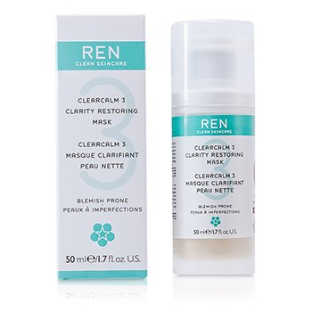 Ren Mascara facial Clearcalm 3 Clarity Restoring Mask