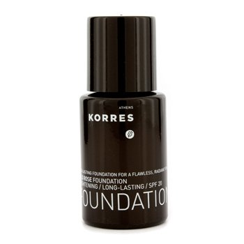Korres Base Wild Rose Brightening & Long Lasting Foundation SPF 20 - WRF9