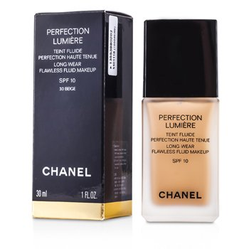 Chanel Base Perfection Lumiere Long Wear Flawless Fluid Make Up SPF 10 - # 30 Beige