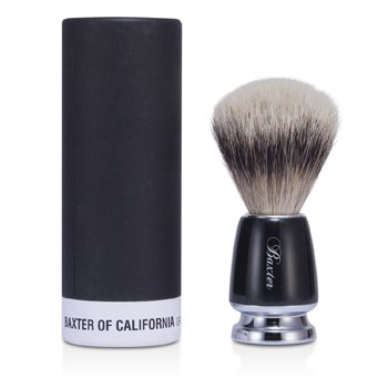 Baxter Of California Pincel de barbear Baxter Badger Hair Shave Brush - Silver Tip (Black)
