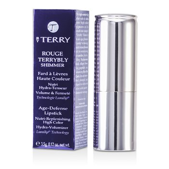Batom Rouge Terrybly Shimmer Age Defense Lipstick - # 801 So Flamenco