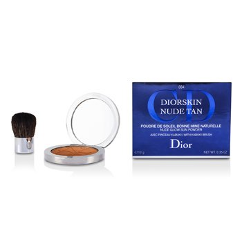 Christian Dior Pó facial Diorskin Nude Tan Nude Glow Sun Powder (With Kabuki Brush) - # 004 Spicy