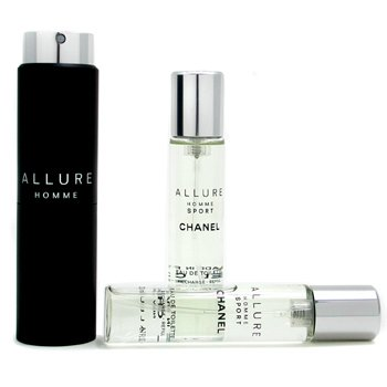 Chanel Allure Homme Sport Eau De Toilette Travel Spray ( Com 2 refils )