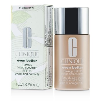 Clinique Base Even Better Makeup SPF15 ( pele mista seca ou mista oleosa ) - No. 01/ CN10 Alabaster