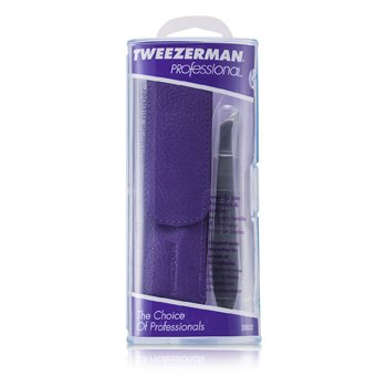 Tweezerman Alicates Professional V Cuticle Nipper for Trimming Cuticles & Hangnails - (With Lavender Pouch)