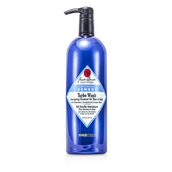 Jack Black Shampoo para o cabelo e corpo Turbo Wash Energizing Cleanser For Hair & Body