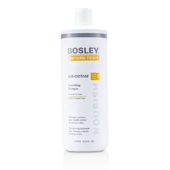 Bosley Shampoo hidratante Professional Strength Bos Defense Nourishing Shampoo (For Normal to Fine Color -Cabelo tratado )
