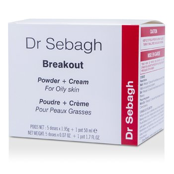 Dr. Sebagh Kit Breakout Set (p/ pele oleosa): Cream 50ml +  5x Pó facial  1.95g