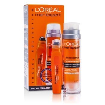 LOreal Kit Men Expert : Hydra Energetic Turbo Booster + Roll-On p/ os olhos Ice Cool