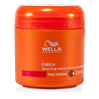 Wella Cabelo seco hidratante Enrich Moisturizing Treatment for Dry & Damaged Hair (Fino/Normal)