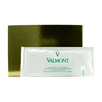 Valmont Mascara facial regeneradora Treatment: Folhas de colageno 5x35g + Collagen Post Treatment 5x2ml (sem água mineral)