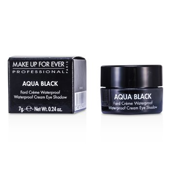 Make Up For Ever Sombra Aqua Black  a prova de água Cream Eye Shadow - #1 ( Black )