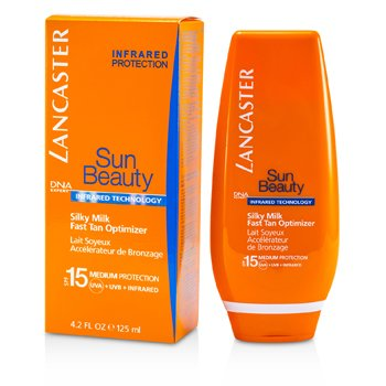 Leite hidratante Sun Beauty Silky Milk Fast Tan Optimizer SPF 15 (face & corpo)