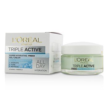 LOreal Gel Triple Active Fresh Ultra-Hydrating Gel-Cream (Para Pele Normal & Mista)