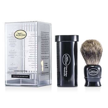 The Art Of Shaving Pincel Travel Pure Badger - Preto