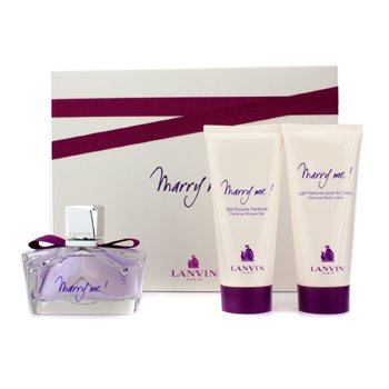 Lanvin Marry Me Coffret: Eau De Parfum Spray 75ml + Body Lotion 100ml + Gel de Banho100ml
