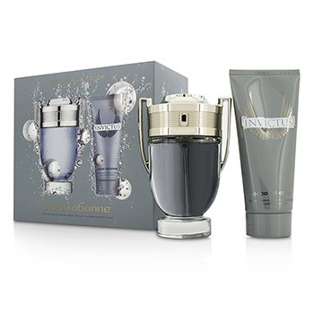 Paco Rabanne Invictus Coffret: Eau De Toilette Spray 100ml + All Over Shampoo 100ml