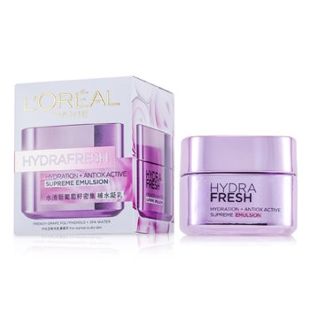 LOreal Hydra Fresh Hydration+ Antiox Active Supreme Emulsion
