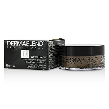 Dermablend Cover Creme Broad Spectrum SPF 30 (Cobertura Intensa) - Cafe Brown
