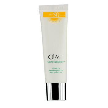 Olay Protetor Solar White Radiance Luminous Whitening Blocker SPF 50