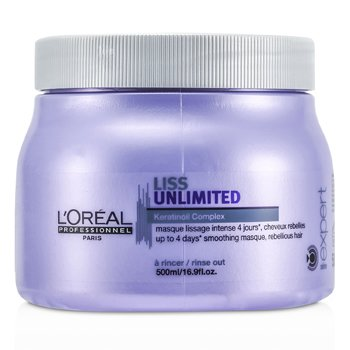 LOreal Professionnel Expert Serie - Máscara Liss Unlimited Smoothing (Cabelo Rebelde)