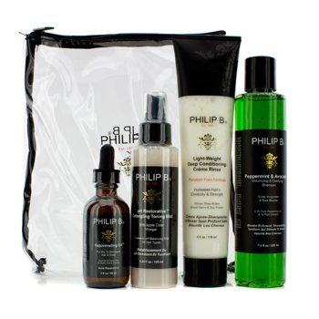 Philip B Four Step Hair & Scalp Treatment Set - Sem Parabenos (Todos Tipos De Cabelos)