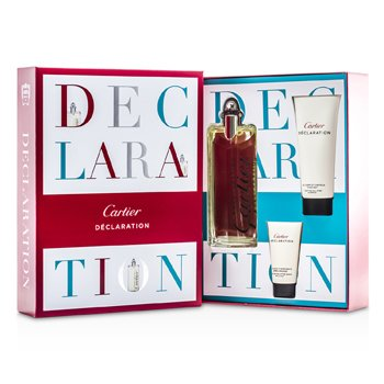 Cartier Kit Declaration: Eau De Toilette Spray 100ml + Shampoo 100ml + Loção Pós Barba 30ml