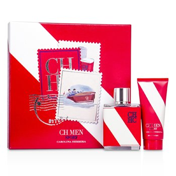 Kit CH Sport: Eau De Toilette Spray 100ml/3.4oz + Loção Pós Barba 100ml/3.4oz