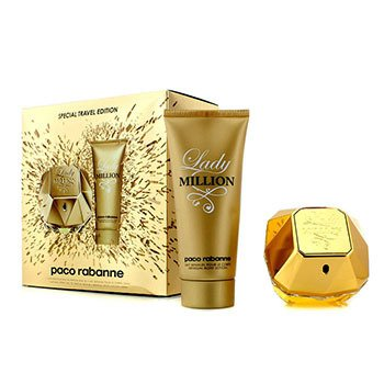 Paco Rabanne Kit de Viagem Lady Million Special: Eau De Parfum Spray 80ml + Loção Corporal Sensual 100ml