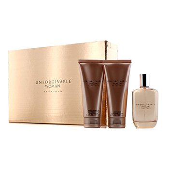 Sean John Kit Unforgivable: Parfum Spray 125ml + Loção Para Corpo 100ml + Sabonete Liquido 100ml