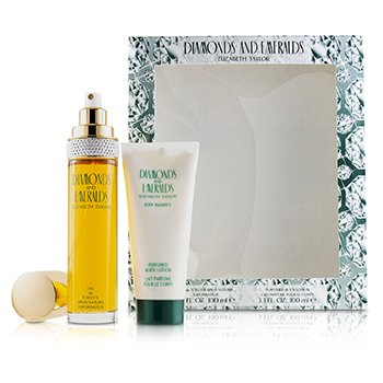 Elizabeth Taylor Kit Diamonds & Emeralds: Eau De Toilette Spray 100ml + Loção Corporal 100ml