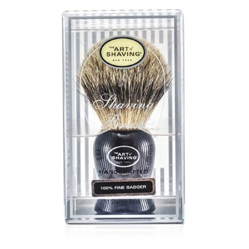 Pincel Para Barbear Fine Badger  - Preto