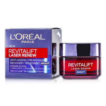 LOreal Tratamento Noturno Revitalift Laser Renew Anti-Ageing Cream-Mask Recovery