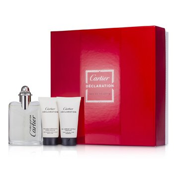 Cartier Kit Declaration: Eau De Toilette Spray 50ml + Shampoo 30ml + Emulsão Pós Barba 30ml