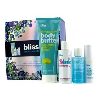 Bliss Kit Crown Jewels: Manteiga Corporal 200ml + Love Handler 118ml + Máscara Energizante 15ml + Face Wash 60ml