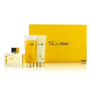 Fendi Kit Fan Di Fendi: Eau De Parfum Spray 50ml + Loção Corporal 75ml + Sabonete Liquido 75ml
