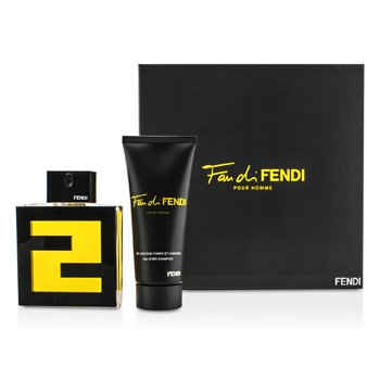 Fendi Kit Fan Di Fendi Pour Homme: Eau De Toilette Spray 100ml + Shampoo 100ml