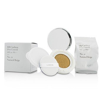 Laneige BB Cushion Foundation (Pore Control) SPF 50 With Extra Refill - # 21 Natural Beige