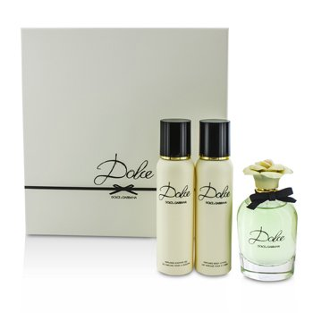 Dolce & Gabbana Dolce Coffret: Eau De Parfum Spray 75ml + Body Lotion 100ml + Shower Gel 100ml