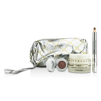 Chantecaille Skin Care Set: Neck Cream 50ml + Lip Potion 4.5g + Contour Fill 2.5g + Bag