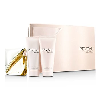 Calvin Klein Reveal Coffret: Eau De Parfum Spray 100ml + Body Lotion 100ml + Shower Gel 100ml
