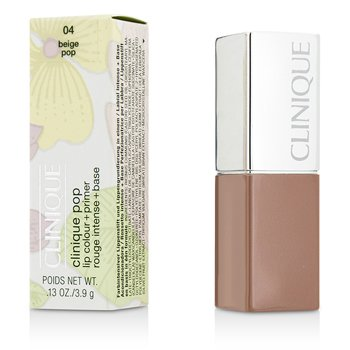 Clinique Primer + Cor Labial Clinique Pop - # 04 Beige Pop